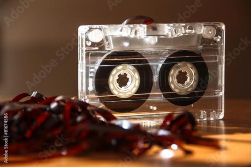 Foto op Aluminium Muziekwinkel magnetic cassette