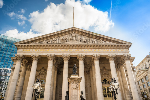 Old Royal Exchange building facade, City of London. Wallpaper Mural