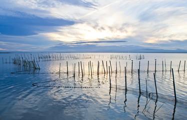 Obraz na Plexitiempo libre y pesca en el lago