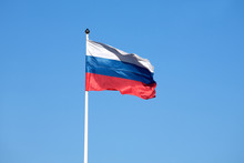 Russian Flag On The Flagpole W...