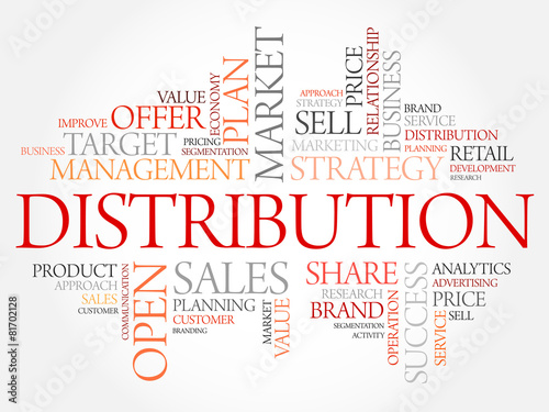 Fotografía  Distribution word cloud, business concept