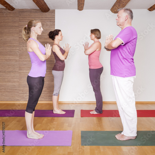 Leinwand Poster  Yoga Exercise