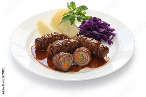 Fotografie, Obraz  rouladen, beef olive, german beef roll