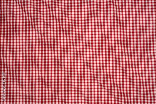 obraz PCV białym i czerwonym tle w kratkę