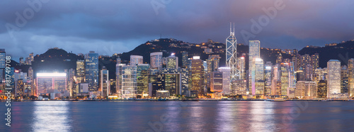 Keuken foto achterwand Hong-Kong Hong Kong skyline at night