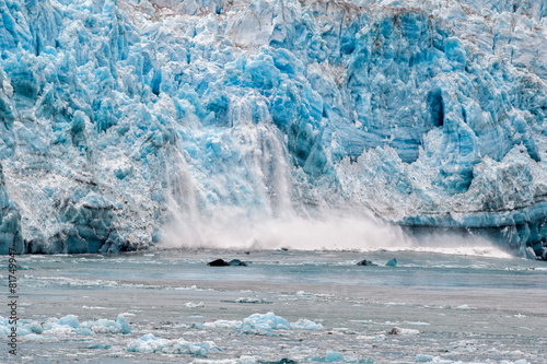 Foto op Canvas Gletsjers Hubbard Glacier while melting in Alaska