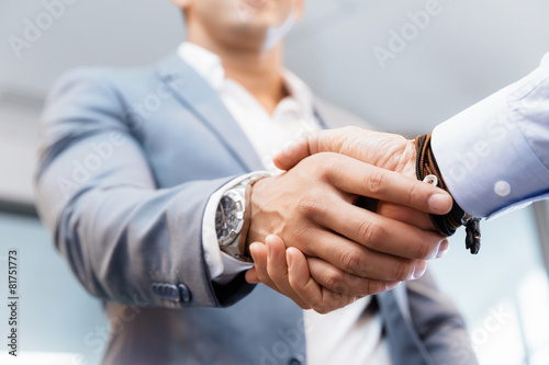Handshake of businessmenoncepts - soft focus Canvas Print