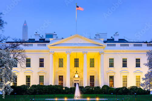 Fotografie, Obraz White House in Washington, D.C.