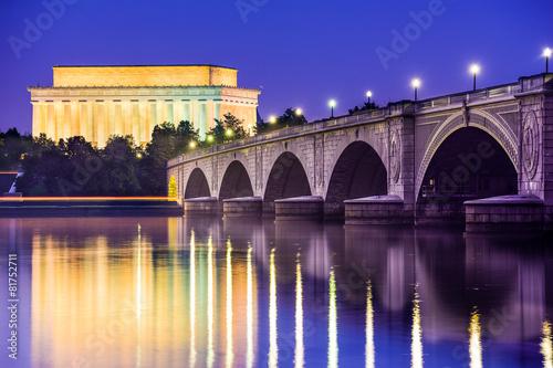 Fotografia  Washington, D.C. at the Lincoln Memorial
