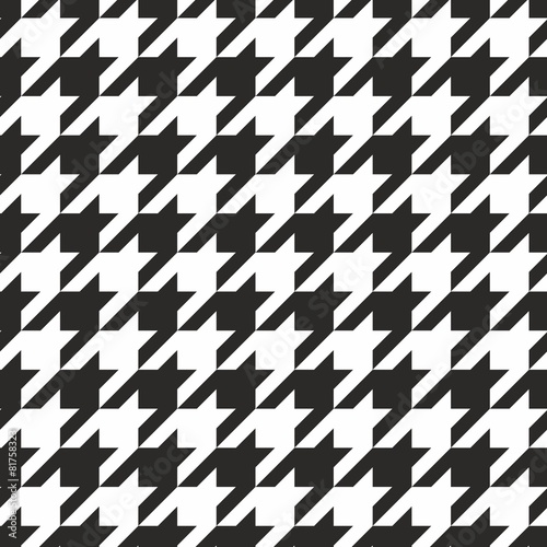 Photo  Houndstooth tile black and white pattern or vector background