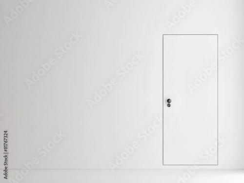 Fotografie, Obraz  Minimalism door concept, 3d illustration