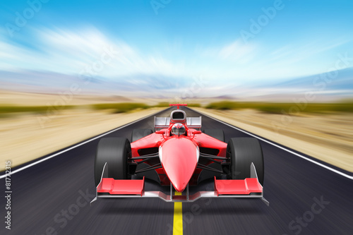 Formula race red car - 81772315