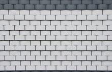 Flechtzaun In Weiß Mit Grauem Rand