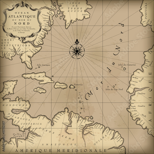 Stampe Old map