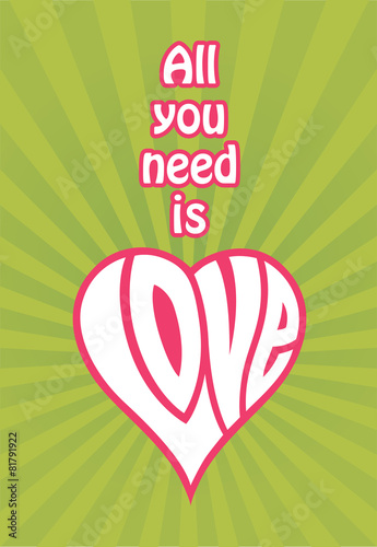 Photo  All You Need Is Love vector design