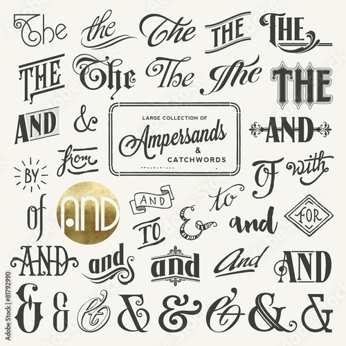 collection of ampersands and catchwords Canvas Print