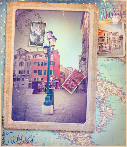 Poster Imagination Holidays in Italy and Venice series