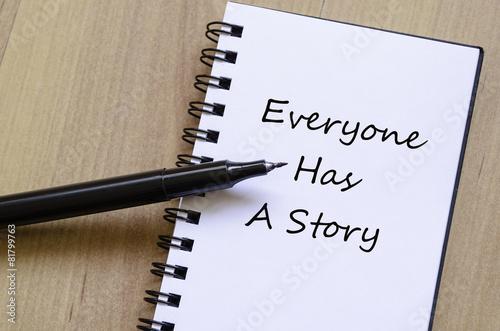 Fotografie, Obraz  Everyone has a story concept