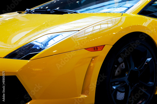 Photo  Modern fast car close-up background. Luxury, expensive