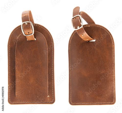 Fotografia, Obraz  Brown Leather Name Tag