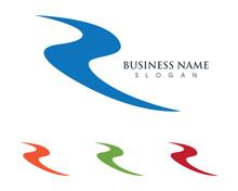 R River Logo Template 3
