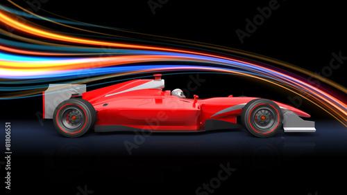 formula-wyscigu-czerwony-samochod
