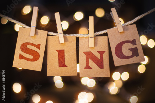 Stampa su Tela Sing Concept Clipped Cards and Lights