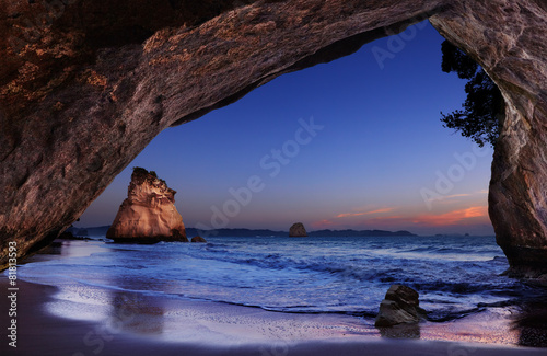 Poster de jardin Cathedral Cove Cathedral Cove, New Zealand