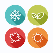 Season Icons.Vector Illustration.