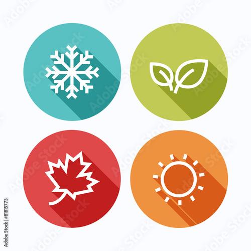 Season icons.Vector illustration. Tablou Canvas