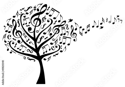 music tree with musical notes, vector #81820348