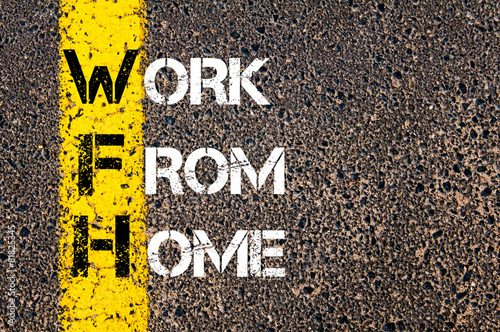 Business Acronym WFH as Work From Home Poster
