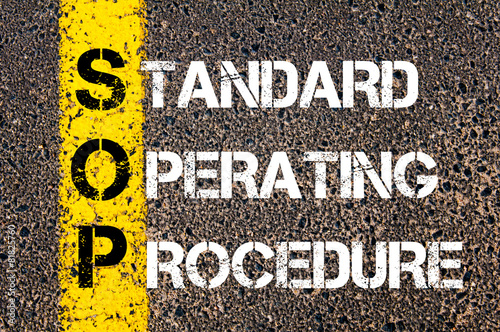 Valokuva  Business Acronym SOP as Standard Operating Procedure