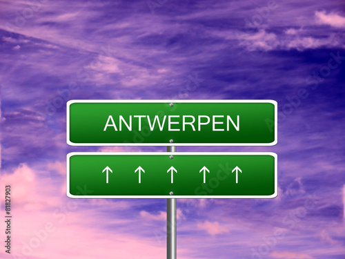 Antwerpen City Belgium Sign