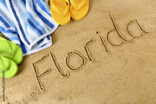 Poster Oceanië Floida beach background
