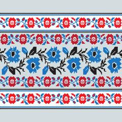 Set of Ethnic floral geometric pattern ornament