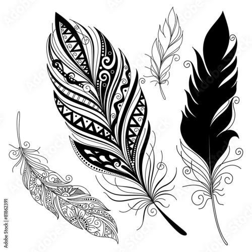 dekoracyjne-czarno-biale-piorka