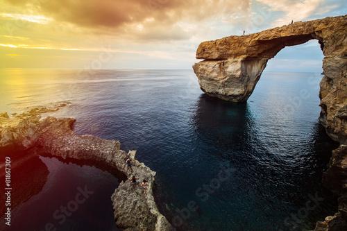 Azure window, Gozo island, Malta - 81867309