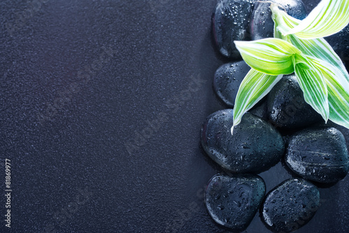 Poster Spa black stones