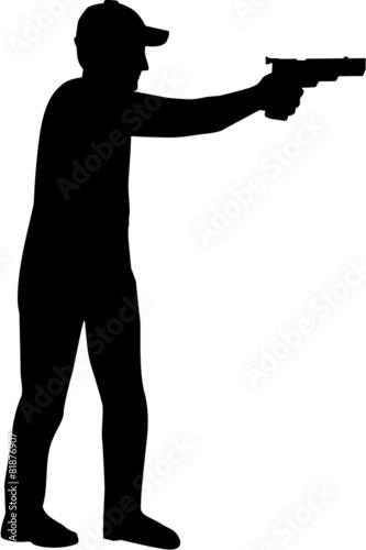 Slika na platnu Marksman Silhouette