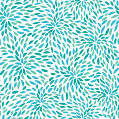 Fototapeta Vector flower pattern. Seamless floral background.