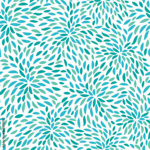 Cuadros en Lienzo Vector flower pattern. Seamless floral background.