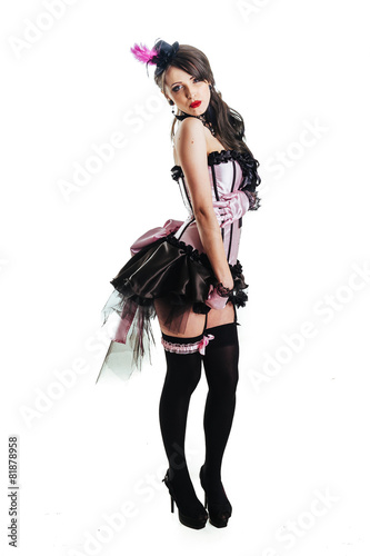 Photo  Glamorous Sexy Moulin Rouge girl wearing hot lingerie. Beuty