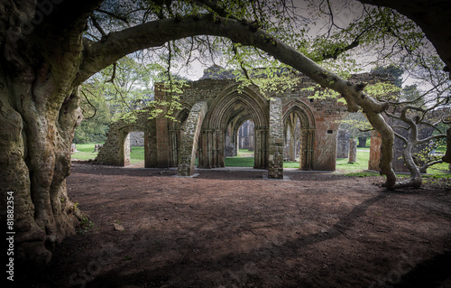 Foto op Canvas Rudnes Margam Park ruined abbey