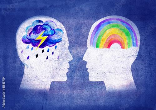 Obraz Different psyche people - fototapety do salonu