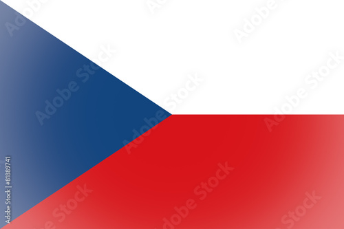 Czech Republic flag vignetted Wallpaper Mural
