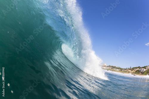 Stickers pour porte Eau Wave Inside Ocean
