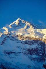 Panel Szklany Góry Snow capped mountains.