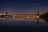 The George Washington Bridge spanning the Hudson River at night