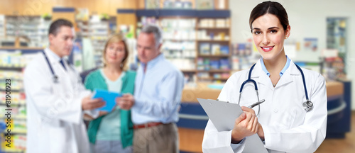 Staande foto Apotheek Medical pharmacist woman.